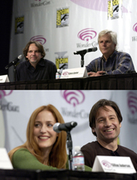 Frank Spotnitz, Chris Carter, Gillian Anderson e David Duchovny