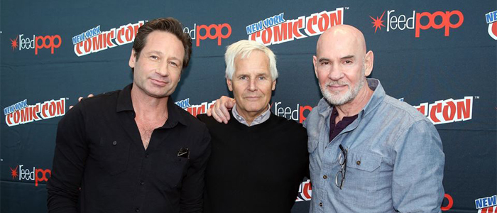 David Duchovny, Chris Carter e Mitch Pileggi al Comic Con di New York