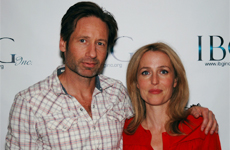 David Duchovny e Gillian Anderson all'evento organizzato dalla IBG