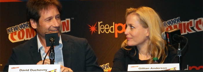 David Duchovny e Gillian Anderson al New York Comic Con
