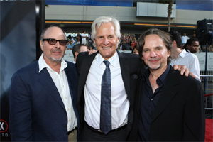Mark Snow, Chris Carter and Frank Spotnitz at the I Want To Believe premiere in Los Angeles