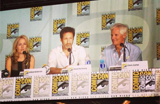 Gillian Anderson, David Duchovny e Chris Carter al Comic Con di San Diego