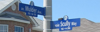 Mulder Ave. and Scully Way