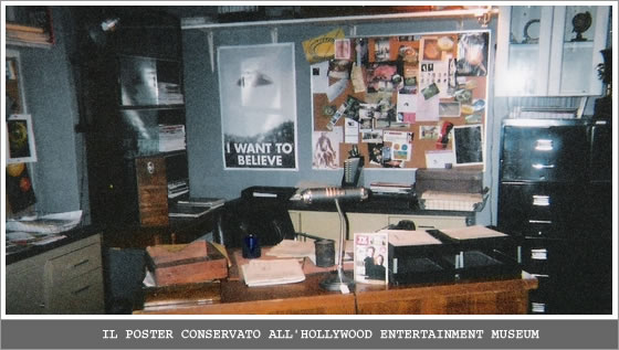 Il poster conservato all'Hollywood Entertainment Museum