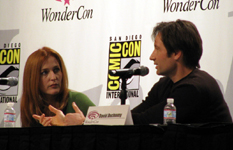 Gillian e David alla convention WonderCon 2008