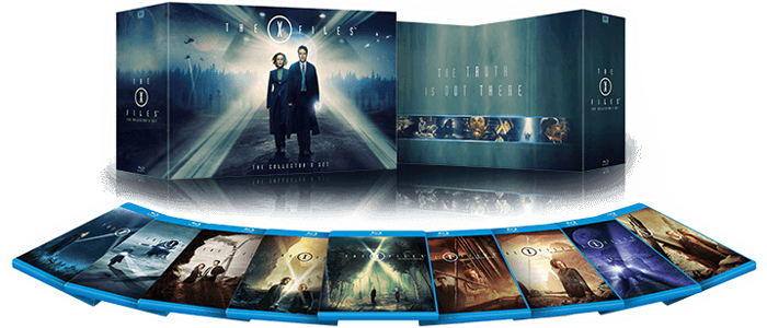 La cover art del cofanetto blu-ray di X-Files