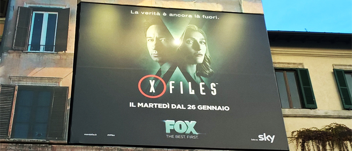 X-Files in Piazza Navona a Roma