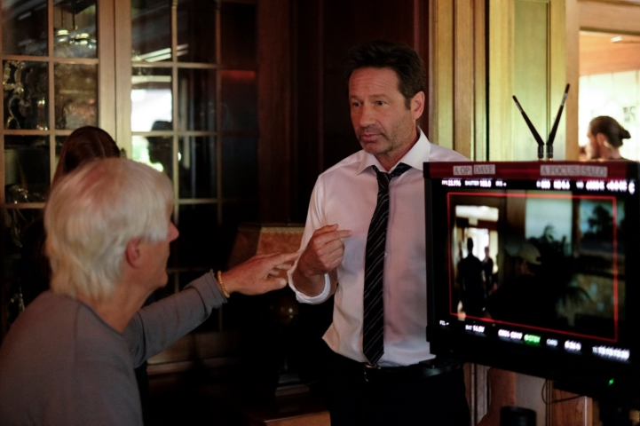 Chris Carter e David Duchovny sul set