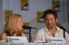 David Duchovny e Gillian Anderson al SDCC #45, da The X-Files 20th Anniversary Panel - SDCC 2013