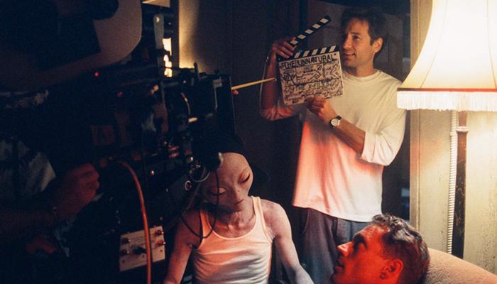 David Duchovny sul set di X-Files