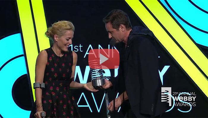 David Duchovny e Gillian Anderson - Webby Awards