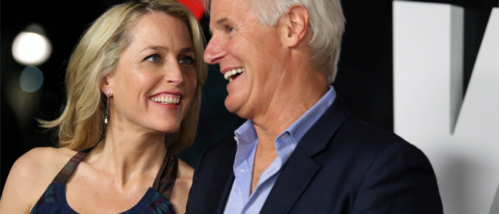 Gillian Anderson e Chris Carter alla premiere di X-Files