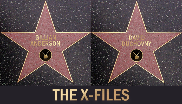 Gillian Anderson e David Duchovny sulla Walk of Fame di Hollywood