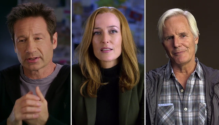 David Duchovny, Gillian Anderson e Chris Carter nel nuovo promo