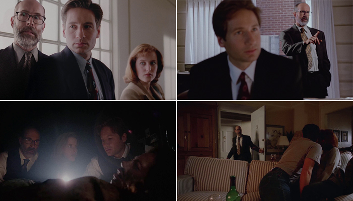 Reggie insieme a Mulder e Scully negli X-Files